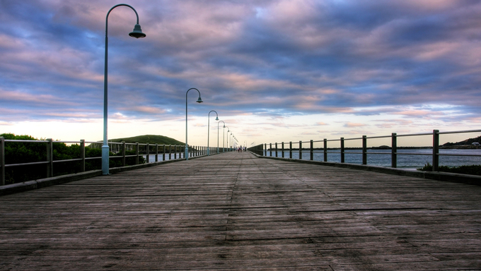 Coffs Harbour Boardwalk in Coffs Harbor, Australia.