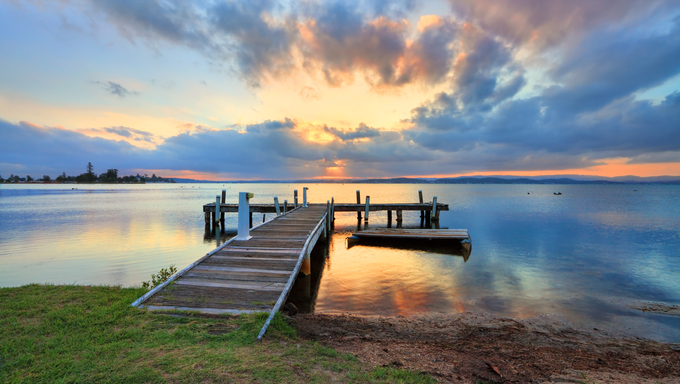 Sunset at Squids Ink Jetty, Belmont on Lake Macquarie.