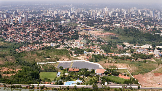 Gorgeous aeriel view of Cuiaba.