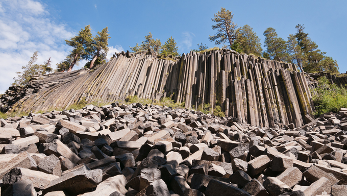 Devils Postpile National Monument, Mammoth Lakes, California.