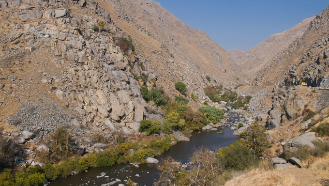 The Kern River through Kern Canyon, just outside of Bakersfield.
