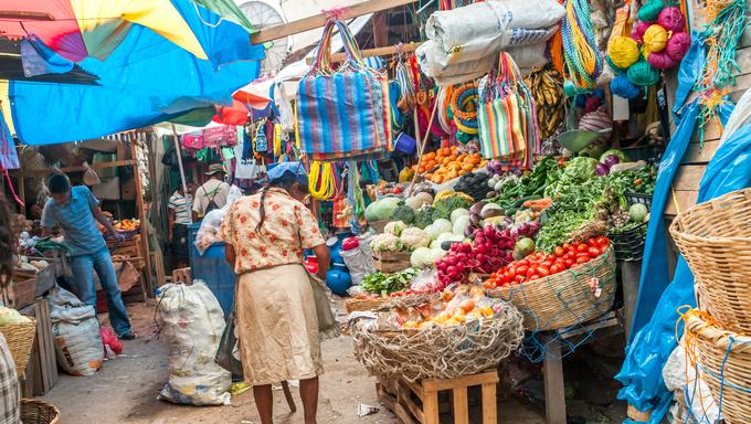 Vegetables Market in Copan - Honduras