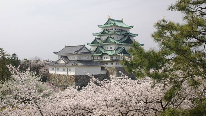 Another view of the Nagoya Castle. It is considered one of Japan's most important castles and is a symbol of Nagoya.