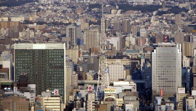Nagoya Sakae area from Midland Square.