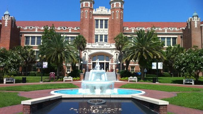 An amazing shot of Florida State University.