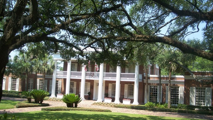 The Governor's mansion in Tallahassee.