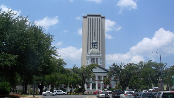 Capitol building in Tallahassee.