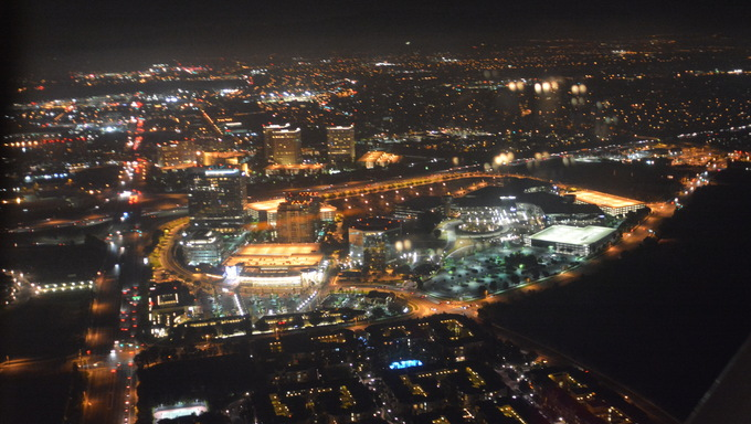 An aerial shot taken of Irvine, CA.