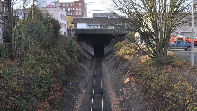 A RR tunnel in Everett.