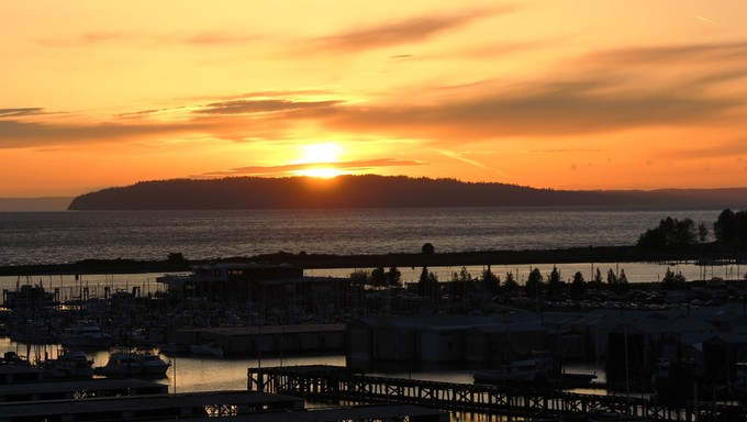Beautiful sunset in Everett.
