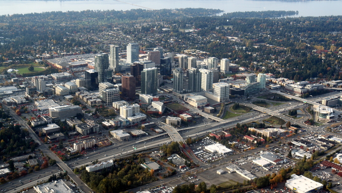 Downtown Bellevue, WA. This is a city located near Federal Way.