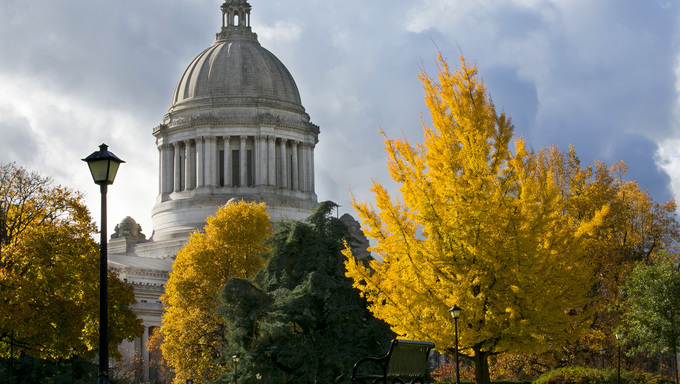 The Capitol Campus and the Legislative Building of WA.