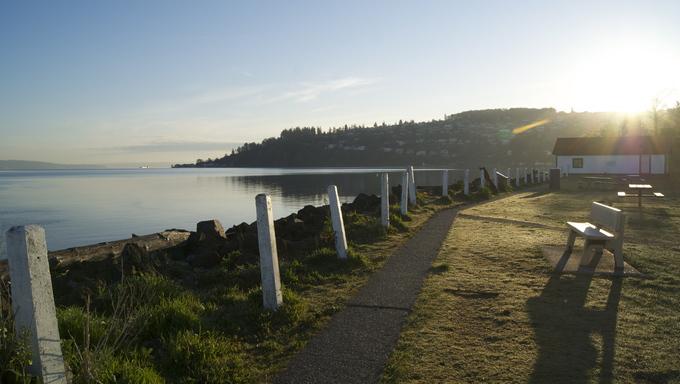 Lighthouse Beach in Federal Way, Washington.