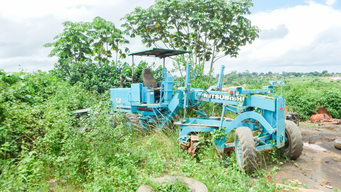 Some old mining equipment on a private Iron mine in Liberia.