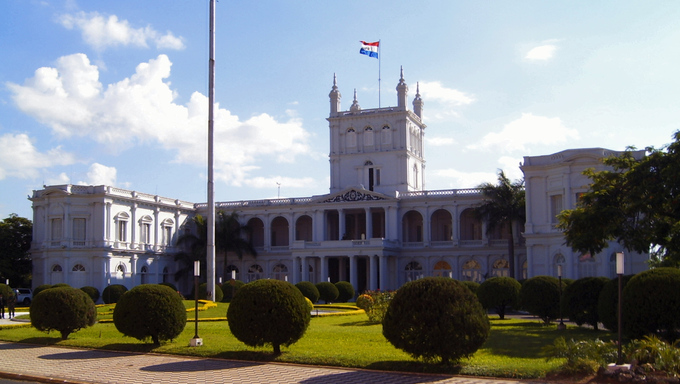 The Paraguay Government Palace in Asuncion.