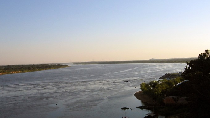 The Rio Paraguay, one of the main features of Paraguay.