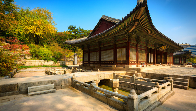 Park of Changgyeonggung Palace in Seoul. Originally the Summer Palace of the Goryeo Emperor, it later became one of the Five Grand Palaces of the Joseon Dynasty.