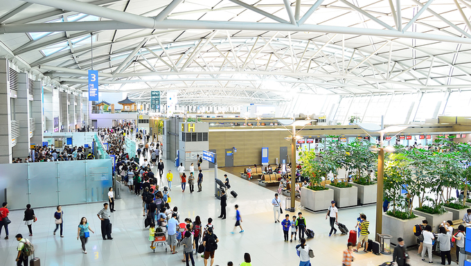 The Incheon International Airport, which is the largest airport in South Korea and also the primary airport serving the Seoul National Capital Area.