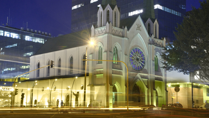 Center of worship Church of the Portiuncula in Bogota Colombia