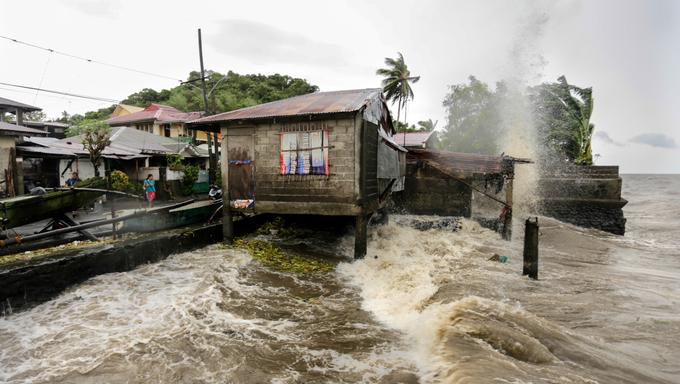 Typhoon Haiyan (local name Yolanda) strikes Tacloban in the central Philippines last November 8, 2013 killing more than 6,000 people.