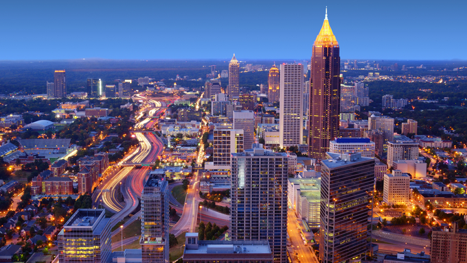 Skyline of downtown Atlanta, Georgia, USA