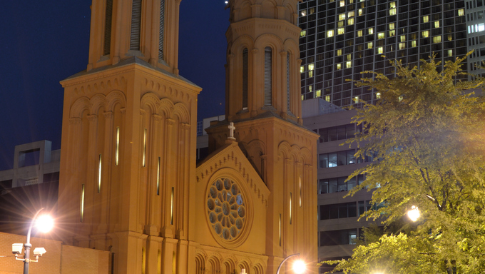 Basilica of the Sacred Heart of Jesus in Atlanta, Georgia, USA. It was the first Catholic Basilica in the state of Georgia.