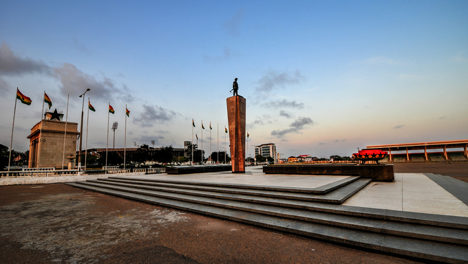 Monument & Tomb For Unknown Soldier. A part of Independence Square, Accra, Ghana.