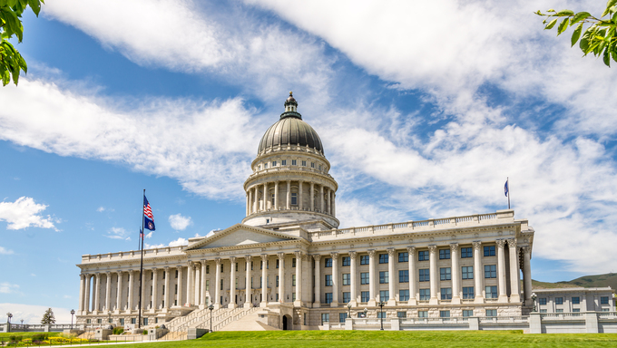 Building of Capitol in the Salt Lake City - Utah