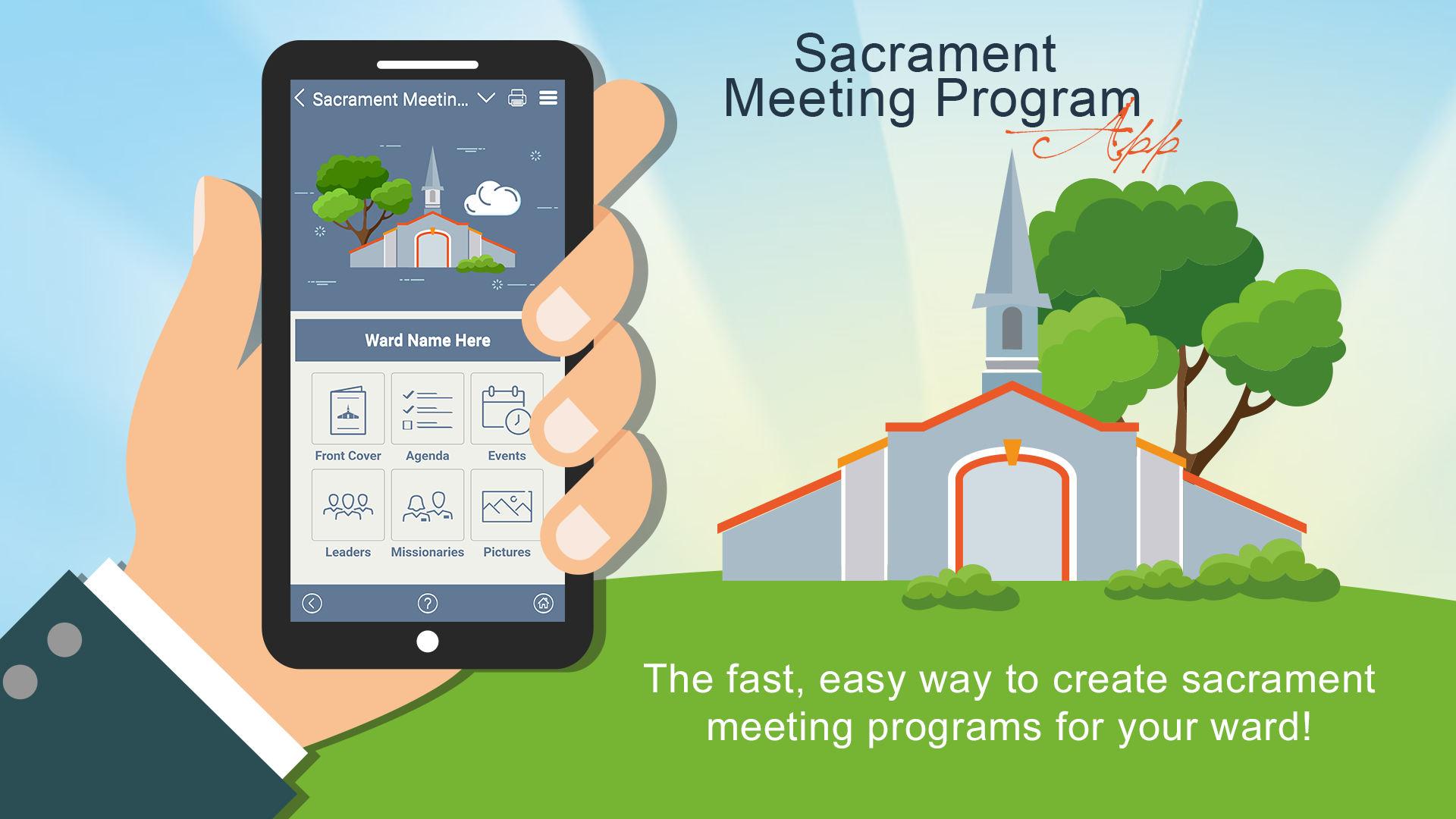 Sacrament Meeting Program