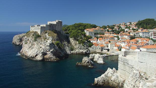 Croatia Coast, the European city of Dubrovnik in summer