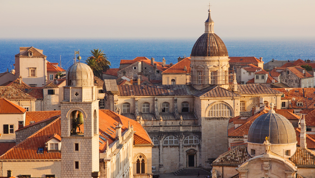 Croatia Dubrovnik Old Town at Sunset