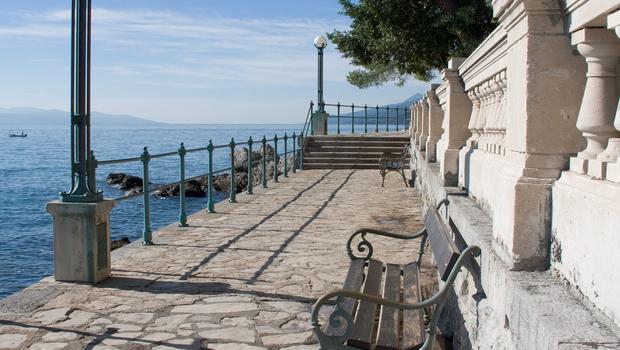 Croatia Opatija Excursion Path Lungomare