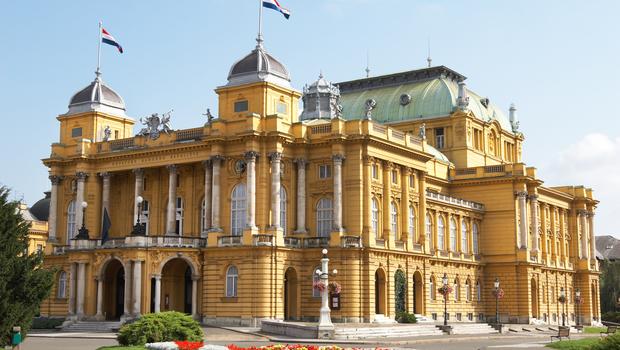 Croatia Zagreb Croatian National Theater 02