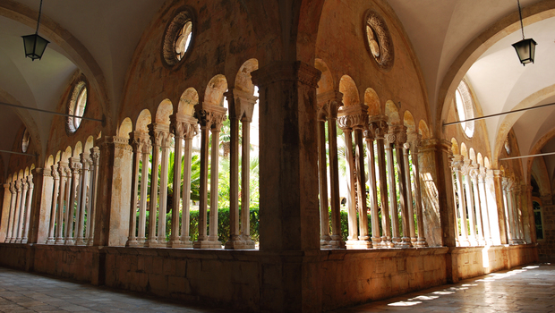 The cloister of the Franciscan monastery; Dubrovnik, Croatia
