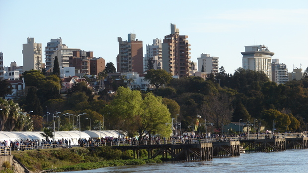 A view of Paraná City in Paraná, Entre Ríos.<br/>