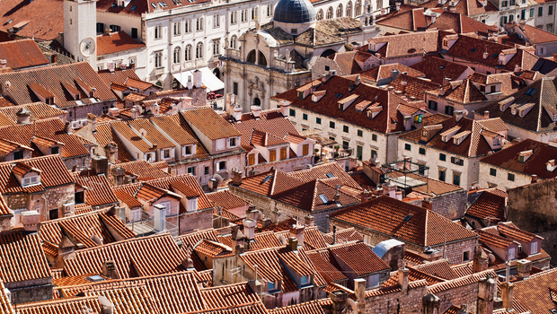 Roofs of Dubrovnik, Old town, Croatia, Europe, Adriatic sea