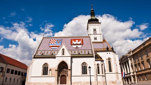 St. Mark's Church at St. Mark's Square, Zagreb, Croatia
