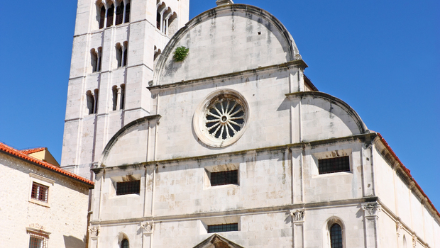 St. Mary's church located in the old city of Zadar opposite St. Donatus Church