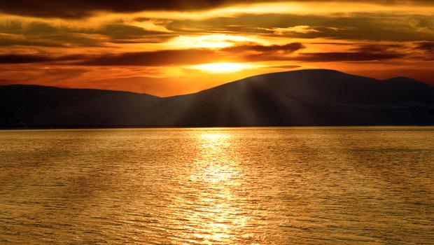 Sunset over Adriatic Sea