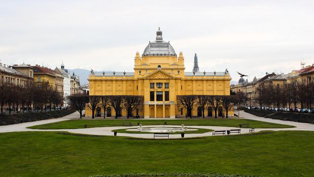 The Art Pavilion in Zagreb at king Tomislav Square
