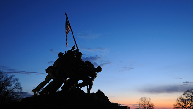 The Iwo Jima Memorial in Arlington, VA