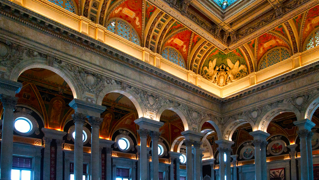 The Library of Congress is the largest library in the world by shelf space and number of books.