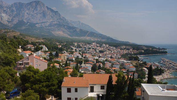 Town on the Adriatic coast of Croatia