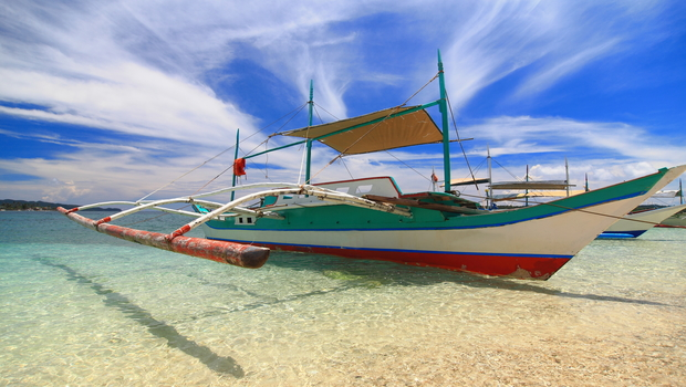 Traditional Philippines boat, shot in Boracay, Philippines.