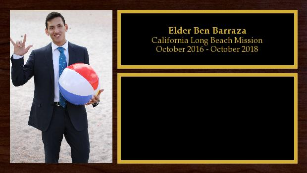 October 2016 to October 2018<br/>Elder Ben Barraza