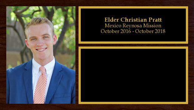 October 2016 to October 2018<br/>Elder Christian Pratt