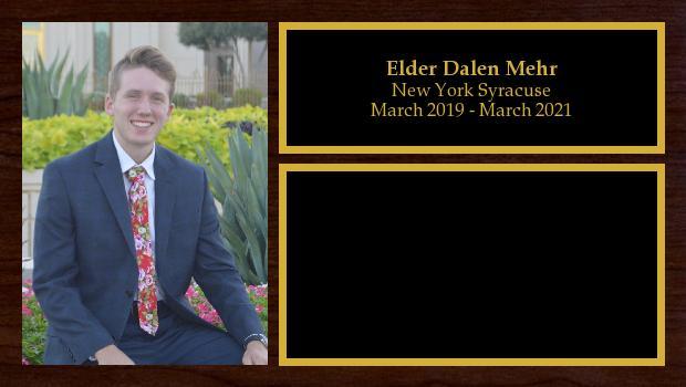 March 2019 to March 2021<br/>Elder Dalen Mehr