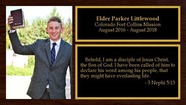 August 2016 to August 2018<br/>Elder Parker Littlewood