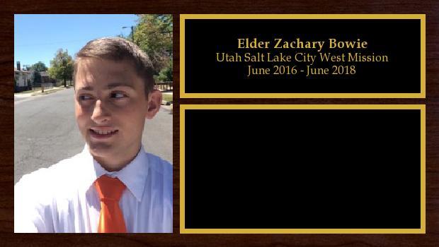 June 2016 to June 2018<br/>Elder Zachary Bowie