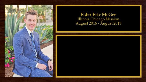 August 2016 to August 2018<br/>Elder Eric McGee